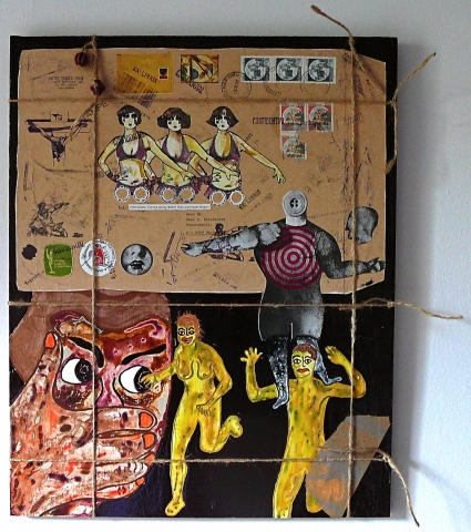 "jenniferbeinhacker.com ""self taught"" ""mail art"" ""mail ""postage stamps"" assemblage ""mixed media"" ""folk art"" ""travel art"" ""acrylic paint"" ""water color paint"" collage women men dolls stamps faces ""visionary art"" ""outsider art"" ""deviant art"" ""primitive art"" """