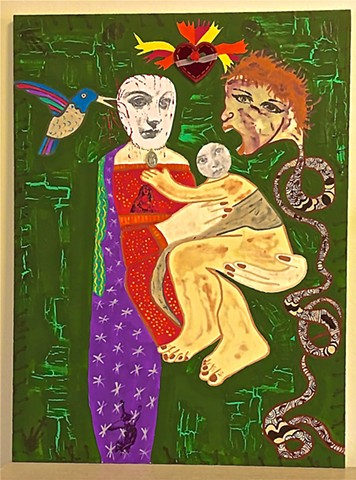 "jenniferbeinhacker.com ""self taught"" ""mixed media"" ""acrylic painting"" assemblage collage ""folk art"" ""religious painting"" ""madonna and child"" ""modern art"" ""contemporary art"" ""primitive art"" ""deviant art"" ""outsider art"" ""visionary art"" ""naif art"" ""naive art"