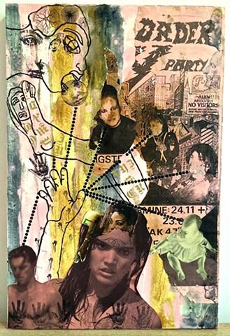"jenniferbeinhacker.com ""self taught"" ""mixed media"" collage assemblage ""folk art"" ""primitive art"" ""deviant art"" ""outsider art"" ""billboard paper"" ""raw art"" ""art brut"" ""naif art"" ""naive art"" ""modern art"" ""contemporary art"" ""art on wood"" stamps ""face stamp"" """