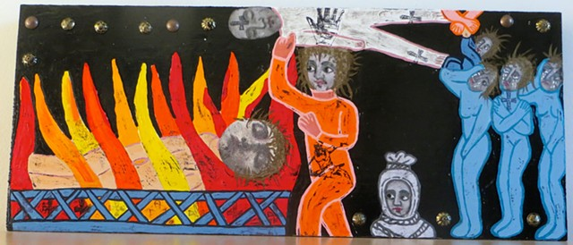 "jenniferbeinhacker.com ""self taught"" ""acrylic painting"" ""church art"" ""religious figures"" Ethiopia ""Jesus Christ""  ""visionary art"" ""outsider art"" ""art brut"" ""raw art"" ""primitive art"" ""deviant art"" collage ""mixed media"" ""modern art"" ""contemporary art"" fire"