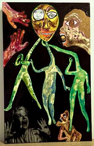 "jenniferbeinhacker.com ""self taught"" ""mixed media"" ""acrylic painting"" ""acrylic paint"" collage ""folk art"" dance dancing women ""deviant art"" ""primitive art"" ""outsider art"" ""visionary art"" surrealism expressionism ""raw art"" ""art brut"" french france stamps ""c"