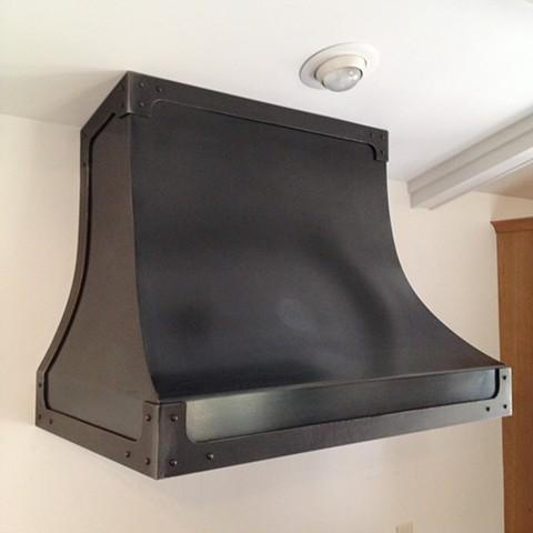 Steel range hood