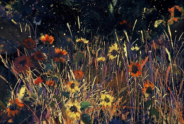 Sunflowers and Grasses