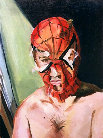 hyperrealism spiderman spider-man photorealism photorealistic realistic alex sewell painting alex sewell comic marvel spider-man oil painting