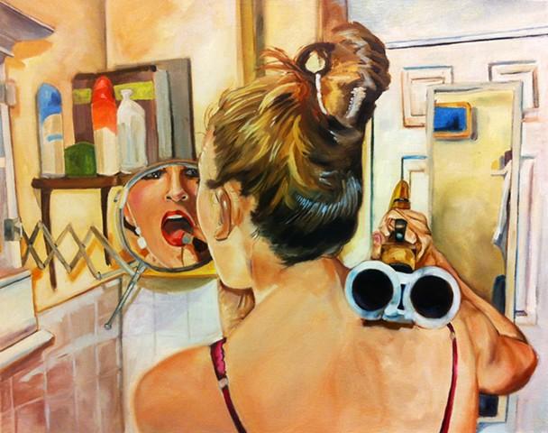 hyperrealism hyperrealistic photorealism surrealism figure alex sewell painting