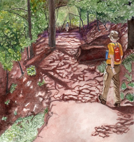 Hikers on the Path