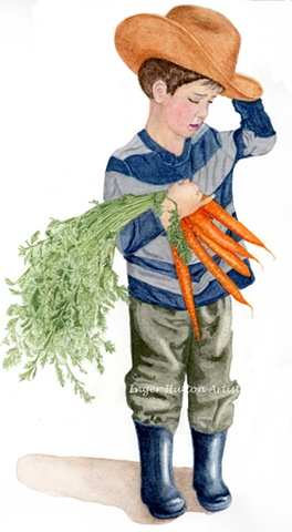 Lleyton with Carrots