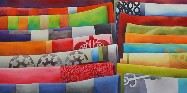 Fabric, Colour, Paint, Artist, Canadian Artist, Watercolour