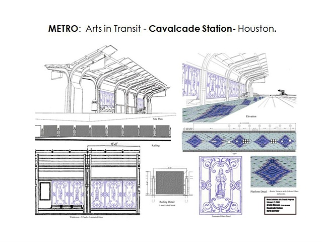 "Metro - Light Rail Transit- Houston, Texas. ""Cavalcade"" North Line. Platform Design. General Concept -"