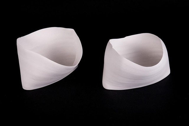 Polished Porcelain, mid-fired, thrown and altered vessels