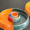 Coloured nesting vessels