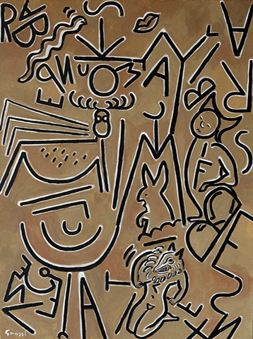 Personal hieroglyphics with automatic writing