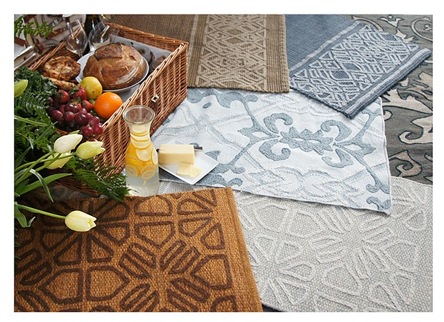 Various embroidered rugs