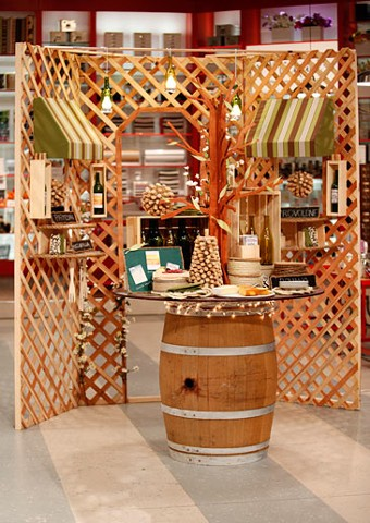 Wine and Cheese Display