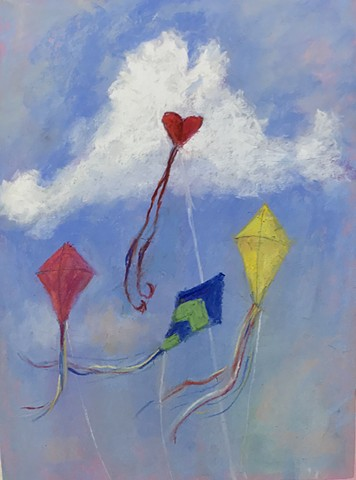 Art for the official Martha's Vineyard Kite Festival poster