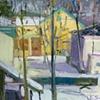 Yellow House- Green Trim
