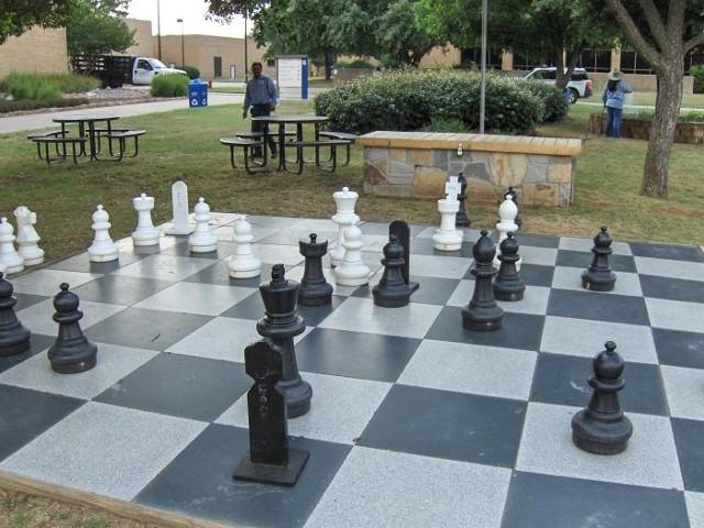 Giant Outdoor Chessboard, granite