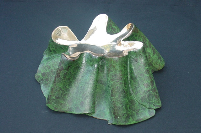 Cast Bronze Sculpture:GEOFORM, cast silicon bronze, hot patina 4/12 edition available