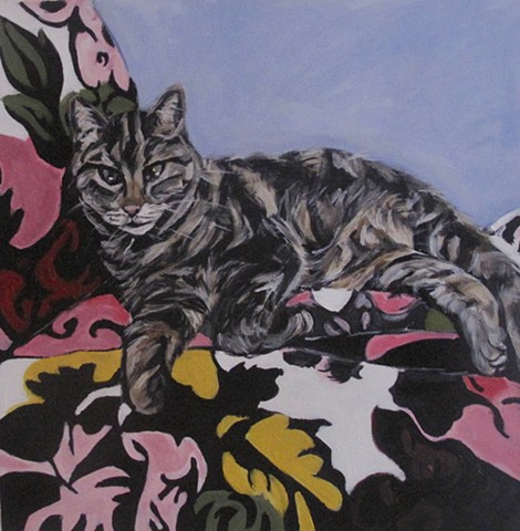 kira birney painting pet portrait