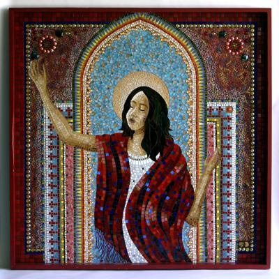 Mary magdalene mosaic Maria Magdalena Zach Scott theatre theater Jesus Christ superstar