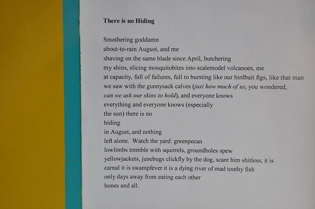 There is No Hiding (Effective Public Relations) - poem view