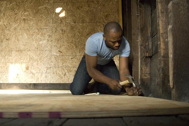 Preparing 6916 Dorchester for the Glass Lantern Slides