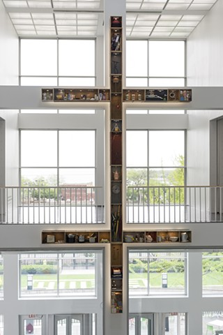 """Theaster Gates, """"Double Cross"""" 13th Ballad, May 18�Oct 6, 2013 Museum of Contemporary Art, Chicago photo courtesy: MCA Chicago"""