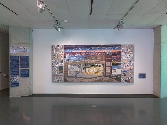 working surface, installation view