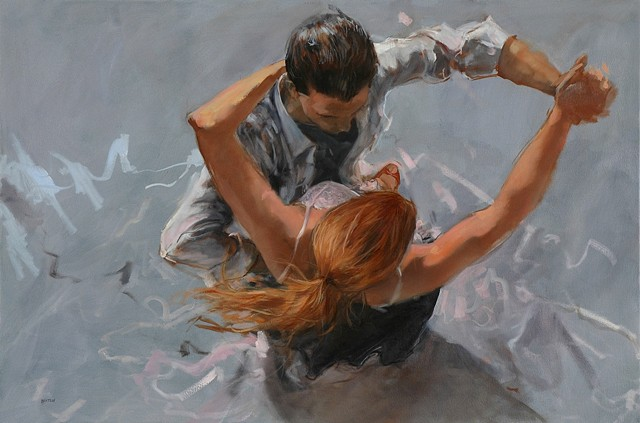 Allen Bentley painting.  Dance painting. Elder Art Gallery
