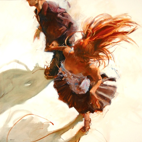 Allen Bentley painting.  Dance painting. Allen Bentley print.