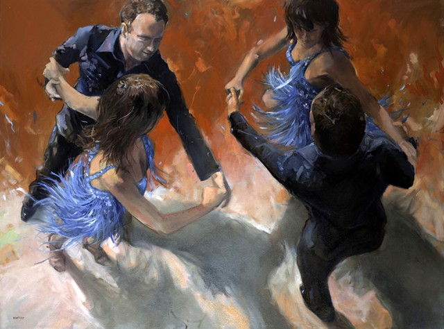 Allen Bentley.  Commission.  Painting. Dance painting.