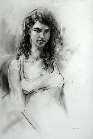Allen Bentley drawing. Figure drawing. Portrait.