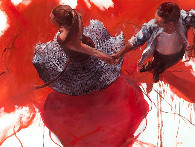 Allen Bentley dance painting. Ballroom dancing