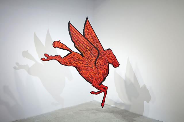 Tailspin, 2012, installation view