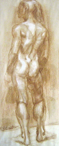 Woman Life Drawing