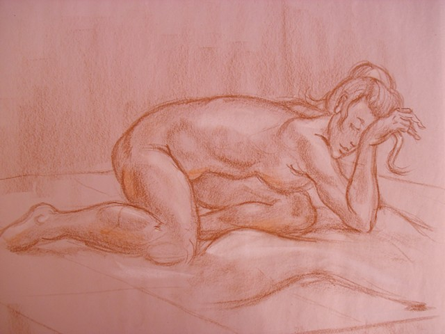 Life Drawing Nude / Close Up