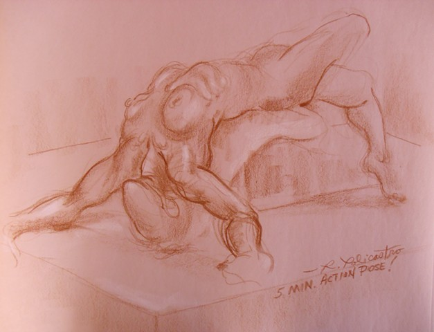Life Drawing Model 5 min. action pose