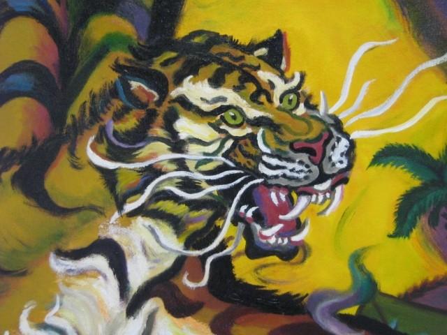 Tiger Face detail / Postcard artwork