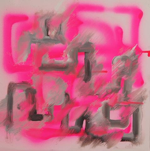 pink grid destroyed