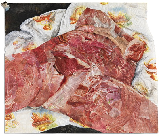 Daily Bread : Raw Meat (after Courbet)