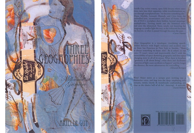 "Book cover for Arielle Guy's ""Three Geogaophies : A Milkmaid's Grimoire"" (Dusie Press, 2011)"