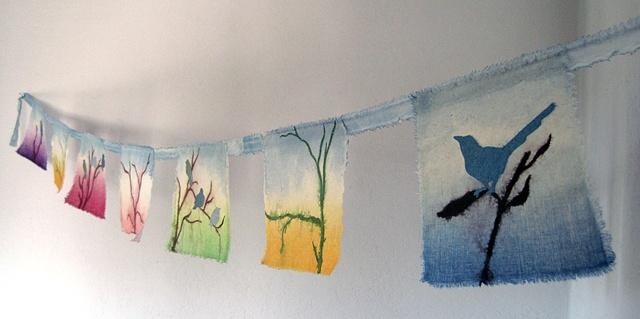 Spring Bird Flag