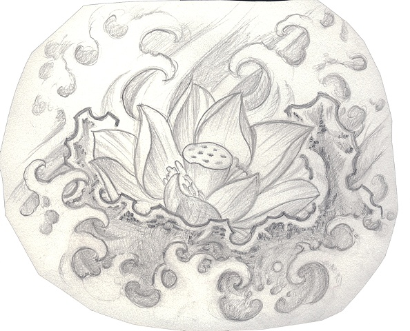 Lotus design, could make a cool tattoo :)