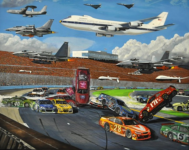 Leiv Fagereng paintings jets nascar