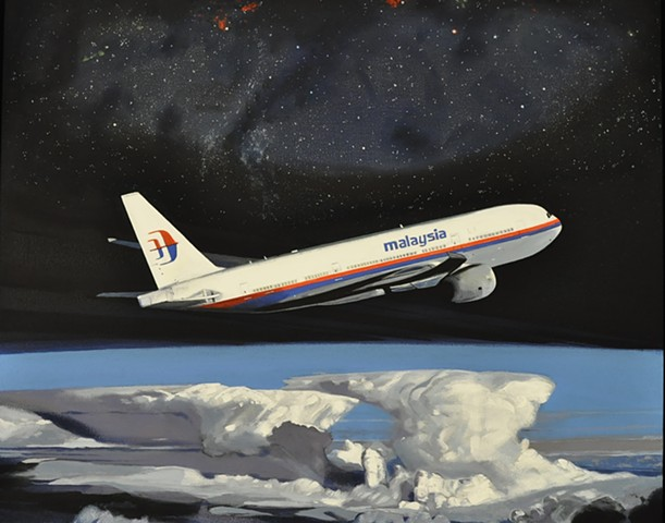 Malaysia Airlines lost jet mystery painting by Leiv Fagereng