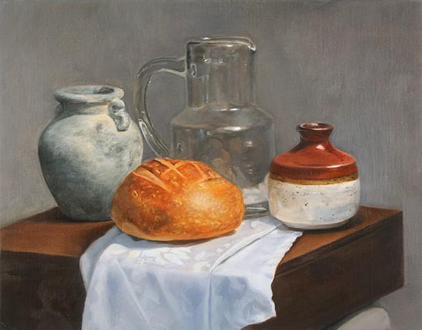 oil painting on linen