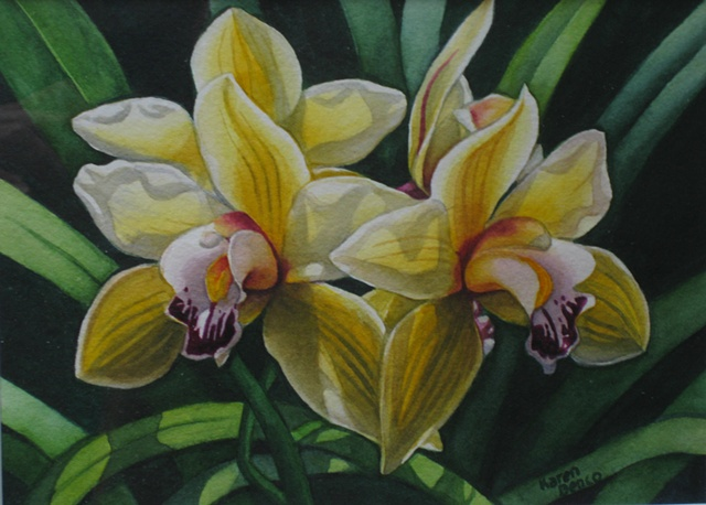 Orchids Yellow-Framed