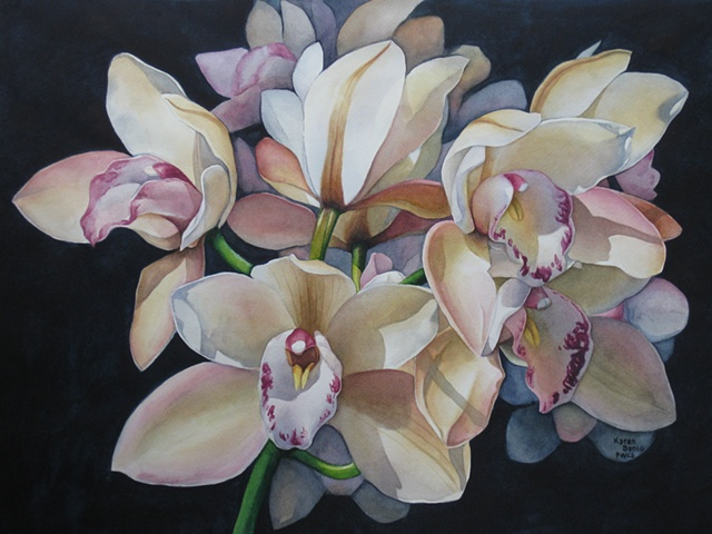 Orchids Tan-Framed