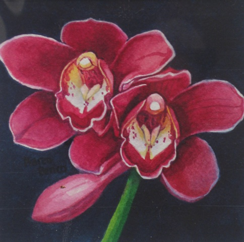 Orchids Red-Framed