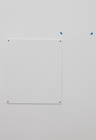 A board for boarding up a service window (detail)
